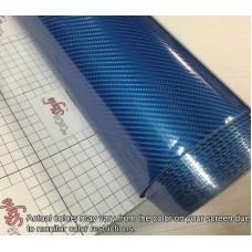 6D Carbon Fibre Vinyl Blue