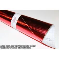 4D Carbon Fibre Vinyl Chrome Red