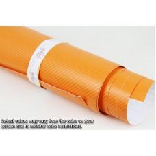 4D Carbon Fibre Vinyl Orange