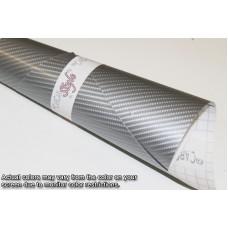 4D Carbon Fibre Vinyl Silver