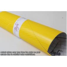 4D Carbon Fibre Vinyl Yellow