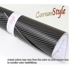 3D Carbon Fibre Vinyl Black