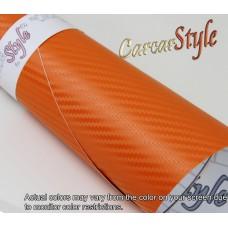 3D Carbon Fibre Vinyl Orange