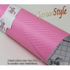 3D Carbon Fibre Vinyl Pink