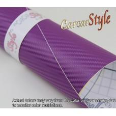 3D Carbon Fibre Vinyl Purple